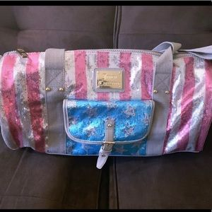 Juicy Couture Sparkle American Flag Duffle Bag